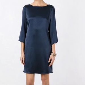 • DVF • Silky Navy Scoop Back Dress
